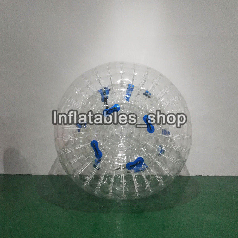 Free Shipping Giant Transparent Adult Inflatable Zorb Ball / Body Zorb Ball For Outdoor Grass Game 2.5m Diameter