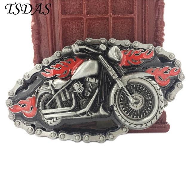 Fashion Motor Cycles Belt Buckle Suitable For 4cm Width Snap on Belt Silver Belt Buckle Head Free Shipping