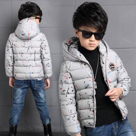 2016 Nuevos Muchachos de Invierno Largo Abajo Chaquetas de Abrigo Abrigos para niños bebé de La Manera Caliente de Espesor Pato Blanco Abajo Para 3-12 T Niños casual