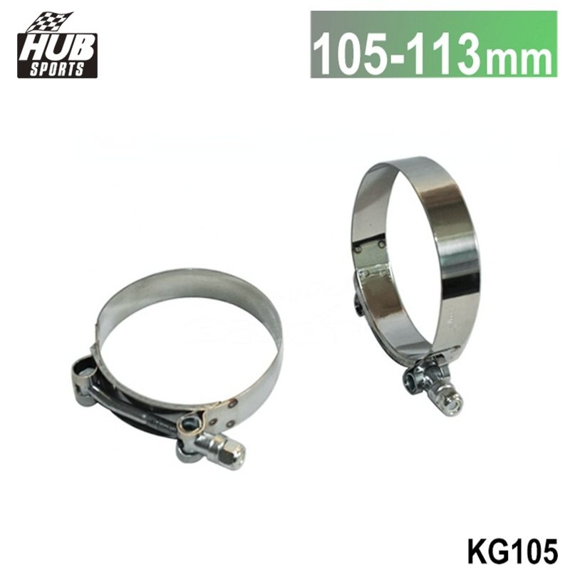 4.0 INCH (105MM-113MM) SILICONE TURBO HOSE COUPLER T BOLT SUPER CLAMP KIT HU-KG105