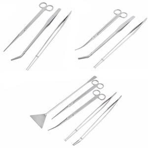 Image 5 - Professional Aquarium Maintenance Cleaning Tool Kit Tweezers Scissors Prune For Live Plants Grass Modeling Fish Tank Accessories