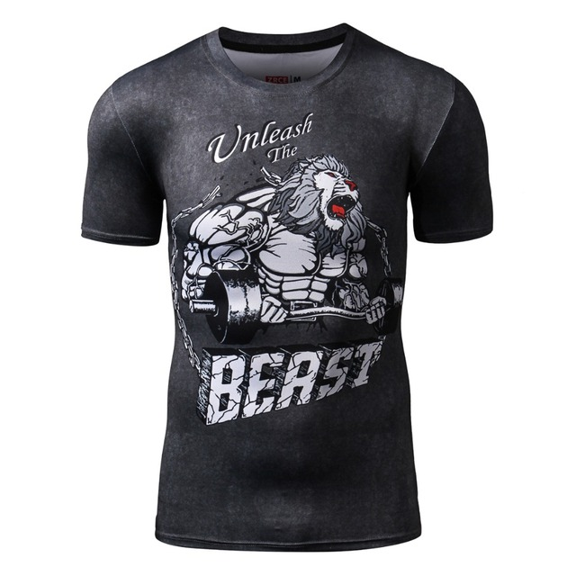 Funny T shirts For Men Compression Shirt  Dragon Ball T shirt Plus Size Men Fitness Clothing Brand Clothing For Men Crossfit Top
