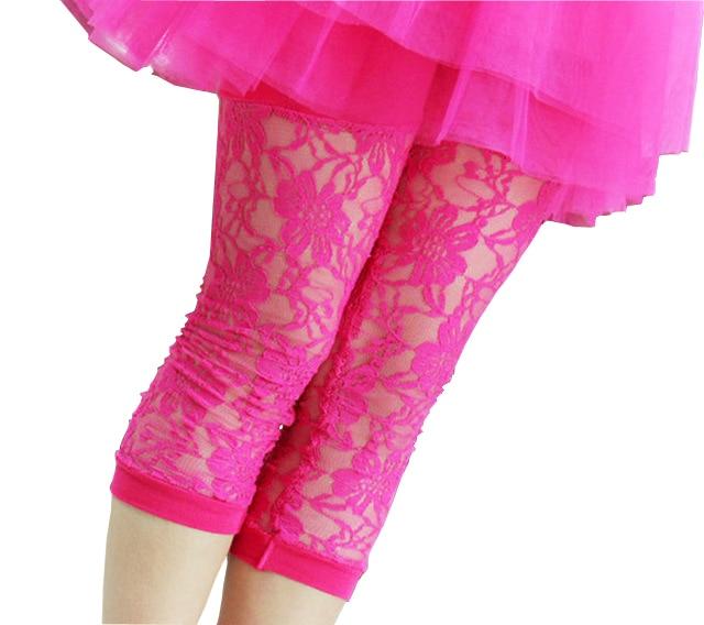 New Born Baby Kids Girls Infants Lace Leggings Cropped Capris Pants Calf-Length
