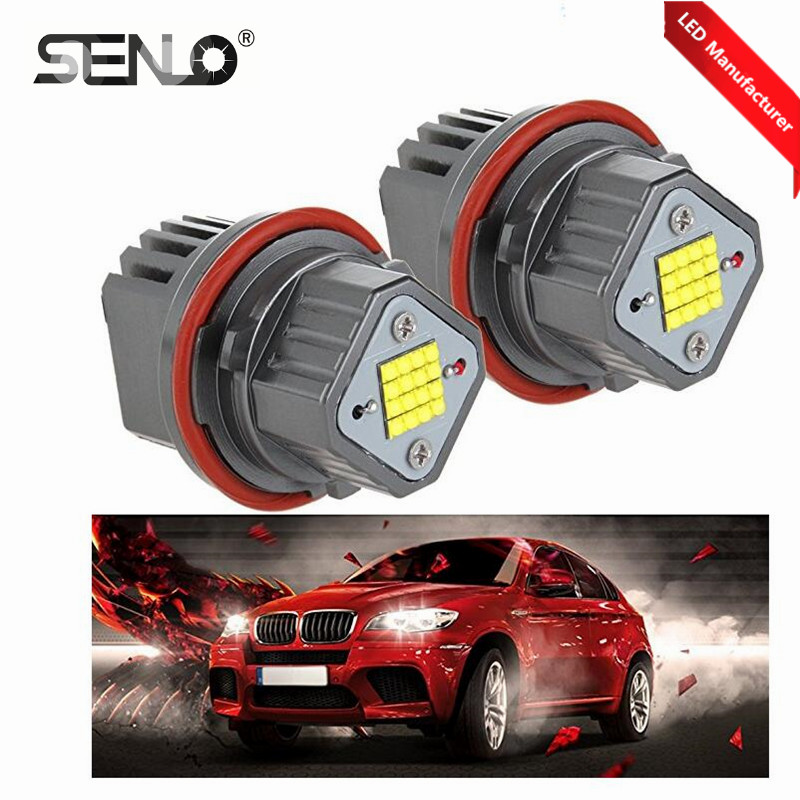 US $38 8 |Error Free E39 LED Angel Eyes Halo Ring Marker Bulbs for BM W 5 6  7 Series 3 5 E39 E53 E60 E63 E64 E65 E66 E83-in Car Light Assembly from