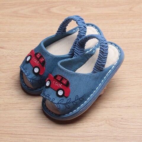 de pano das criancas sandalias calcados infantis