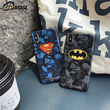 Luxury Marvel Comics Patterned Phone Cases For iPhone 11 Pro MAX XS 7 8 6 6s Plus XR Superman Batman IMD Soft Cover