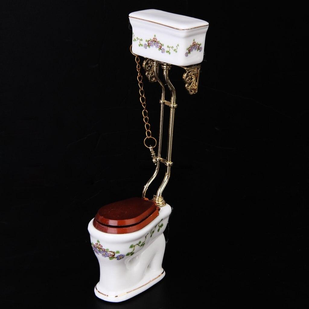 Vintage Style Victorien Salle De Bain Toilette En Porcelaine Maison