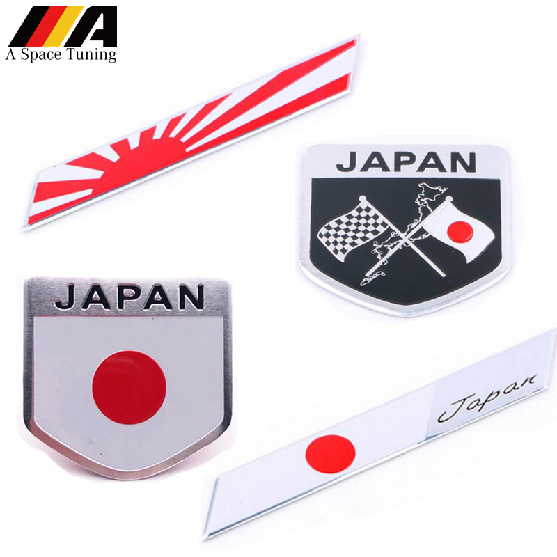 Japanese Flag Emblem Badge Car Styling Sticker Motorcycle ...