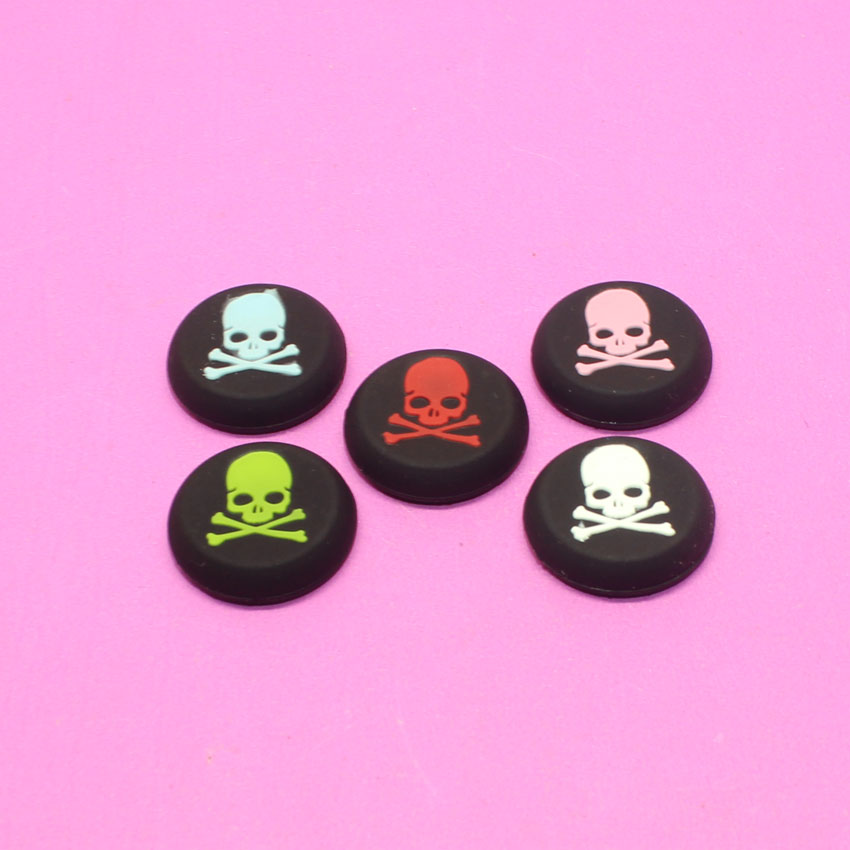 YuXi 50pcs Skull Design Anti-slip Silicone Caps for PS3 PS4 Game Controller Key Protector Joystick Caps for Xboxone Xbox360