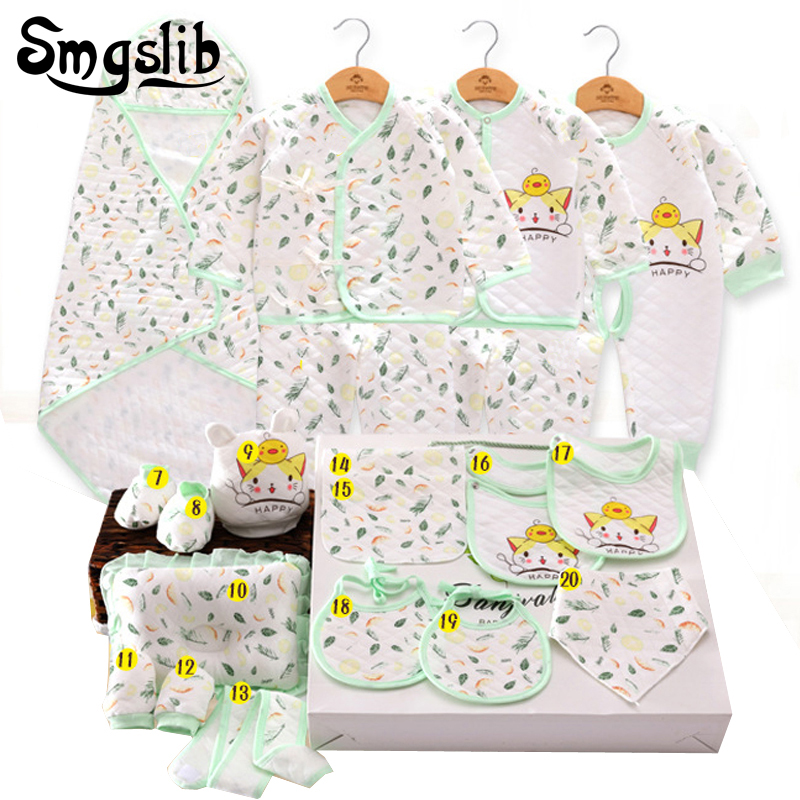 Newborn clothes 15/20 Pcs/set Cotton baby rompers infant girl clothing Long Sleeve baby set winter Jumpsuit Overalls outfit newborn baby girls rompers 100% cotton long sleeve angel wings leisure body suit clothing toddler jumpsuit infant boys clothes