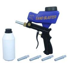 Pistola de chorro de arena LEMATEC AS118, pistola de chorro de alimentación por gravedad de aire con cuatro boquillas reemplazables, herramientas neumáticas de chorro de arena abrasiva
