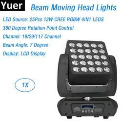 Матрица луч света 25X12 W CREE светодиодный S светодиодный лампа перемещения головы светодиодные софиты Dj этап омывающий свет 90-260 V Идеально