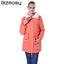 Winter Jacket Women 2016 New Winter Womens Parkas Casual Outwear Military Coat Long Femme Woman Clothes Cotton Padded BN022