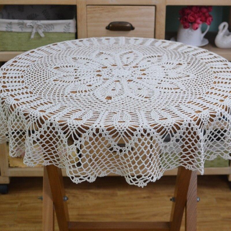 Häkeln Runden Tisch tuch Spitze Elegante Deckchen Handgemachte ...