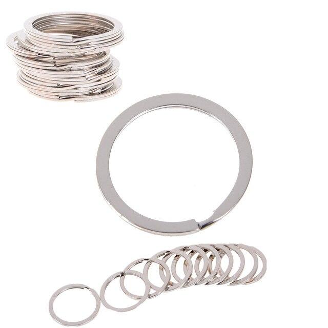 Lovely Silver Tone Split Rings Key Rings 1.5x25mm Findings Wholesale 10PCs