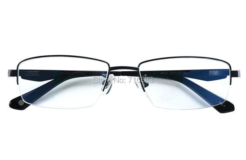 452f0bf8e0 Agstum Womens Mens Pure Titanium Half Rimless Business Glasses Frame  Prescription Eyeglasses Clear Lens 8843
