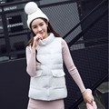 Latest Winter Fashion Women Down jacket  Stand collar Thickening Super warm Vest Coat Pure color Loose Big yards Coat SJ1154