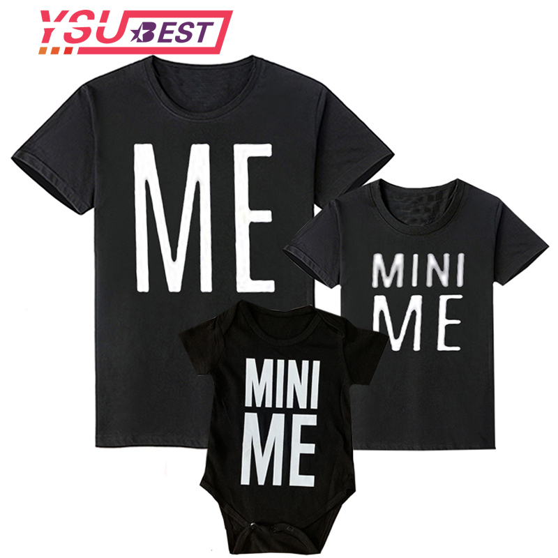 2019 Matching Family Outfits ME MINI ME Father And Son Clothes Fashion Style Cute Pattern Family T Shirt Family Matching Outfits