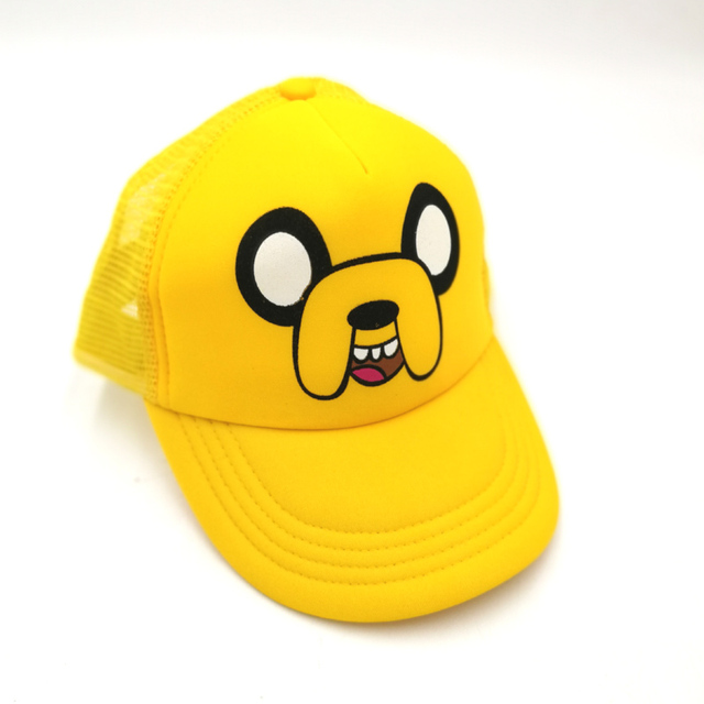 bf7c618b272 Casual Baseball Caps Cartoon Adventure Time with Finn and Jake Dog Mesh Adjustable  Caps Unisex Men