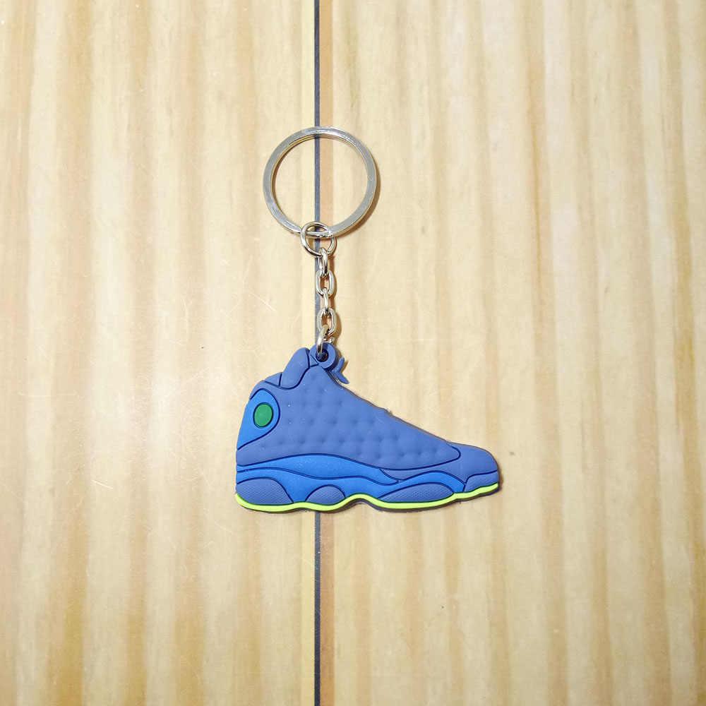 Mini Silicone della Scarpa Da Tennis Scarpe Jordan Keychain Della Catena Chiave del Supporto di Chiave Dell'automobile della Donna Degli Uomini di Fascino Del Sacchetto di Accessori Portachiavi Ciondolo Regali