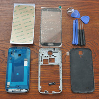 For Samsung Galaxy S4 SIV I9500 Black Housing Cover Frame Middle Chassis Battery Cover Outer Glass