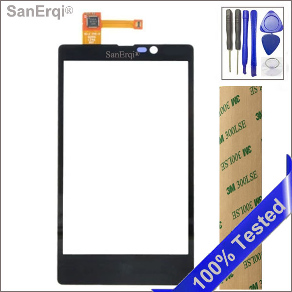 SanErqi Black Touch Screen For Nokia Lumia 820 N820 Mobile Phone Touch Panel Glass With Digitizer Sensor Free Tools