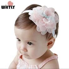 WHTLY baby schattige haarband kinderen polyester haaraccessoires prinses stijl pasgeboren hoofddeksels meisjes hoofd bloem hoofdband 1 stks