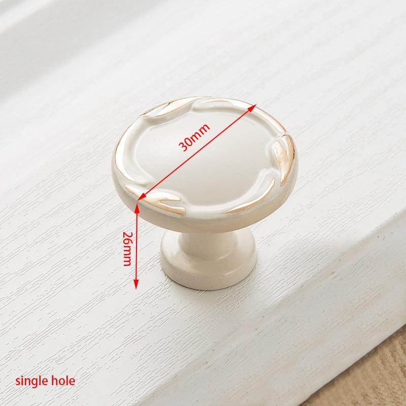 KAK цинк Aolly цвета слоновой кости ручки для шкафа кухонный шкаф дверные ручки для выдвижных ящиков Европейская мода оборудование для обработки мебели - Цвет: Handle-8806