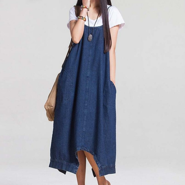 2017 Spring Summer Fashion Solid Demin Capris Overalls Casual Jeans Jumpsuits for women
