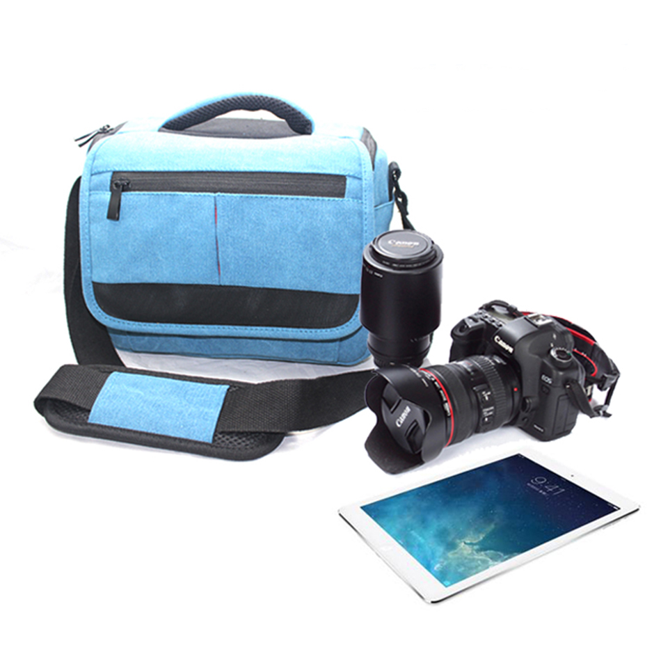 Large Capacity Mochila Waterproof Canvas Camera Video Bag Case Travel Photo Shoulder Bags for Canon Nikon Sony SLR DSLR Camera vintage 100% cowhide leather dslr slr camera video bag cross body messenger bags for sony canon nikon men s handbags travel bags