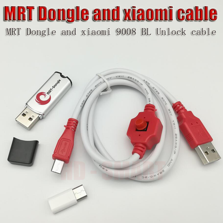original MRT dongle + xiaomi9008 cable For coolpad hongmi unlock account or remove password imei repair Fully activate version