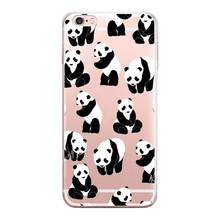 2016 New China cute panda For apple iPhone 6S case silicone Animation For iPhone 6 Plus SE 5 5s cases soft cover Coque