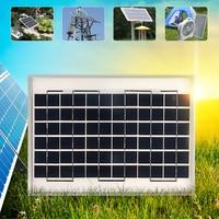 CLAITE 12V 10W Solar Panel Charger Polycrystalline Solar Cells DIY Battery Charger Power Bank For Car Boat + 12/24V Controller