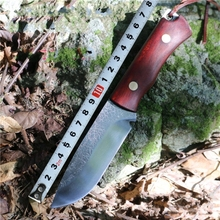 100% Hand Forged manganese steel Small Straight Knife Camping Hunting knives Outdoor Survival Equipment