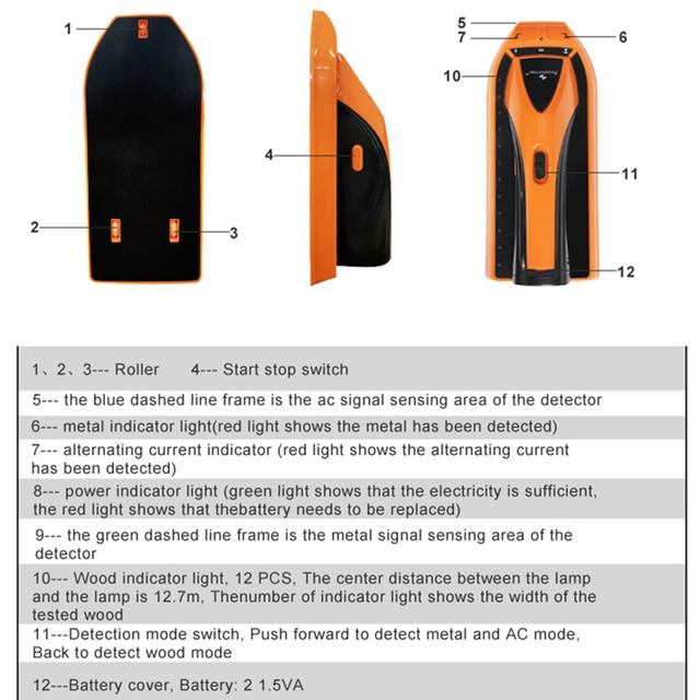 PROSTORMER Metal Detector Find Metal Wood Studs 3 In 1 Multi-functional Live Wire Detect Wall Scanner 4