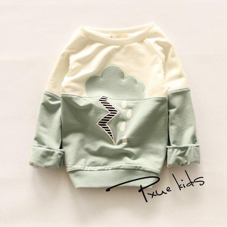 2016 frühling herbst t shirts kinder kleidung baby mädchen lange ärmeln t-shirt baby jungen Casual tee kinder pullover 2-7Y