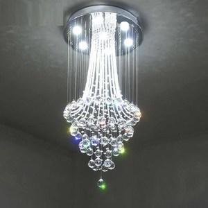 Image 5 - עגול עיצוב מודרני נברשת קריסטל LED אור AC110 220V יוקרה קריסטל תקרת נברשת בית תאורה