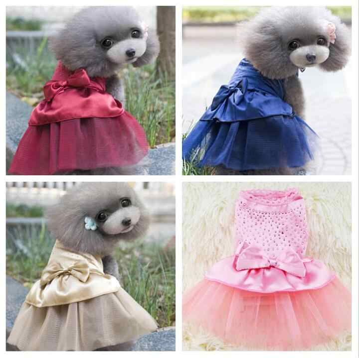 01741872b00b ... Cute Dog Tutu Dress for Girls Dogs Puppy Princess Dress Colorful Lace  Skirt Pet Clothes Cupcake ...