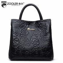 women Genuine Leather Handbag famous brand classic Luxury Style bolsa feminina shoulder bag lady Embossing Messenger bags