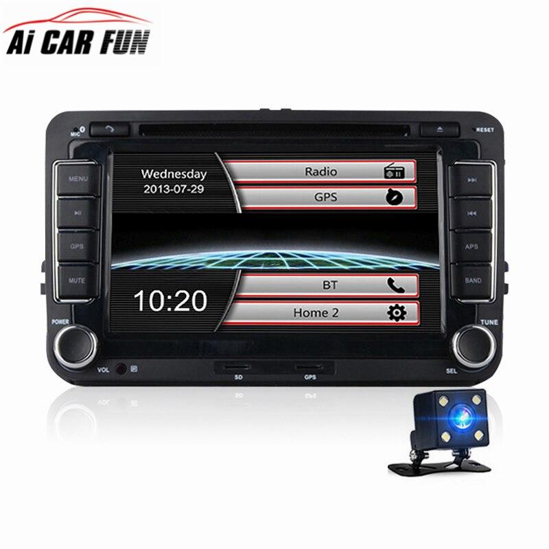 7 Inches 2 Din Car DVD GPS Navigation Radio Stereo Player for Volkswagen VW Golf 6 Touran Passat Sharan Polo Tiguan GP