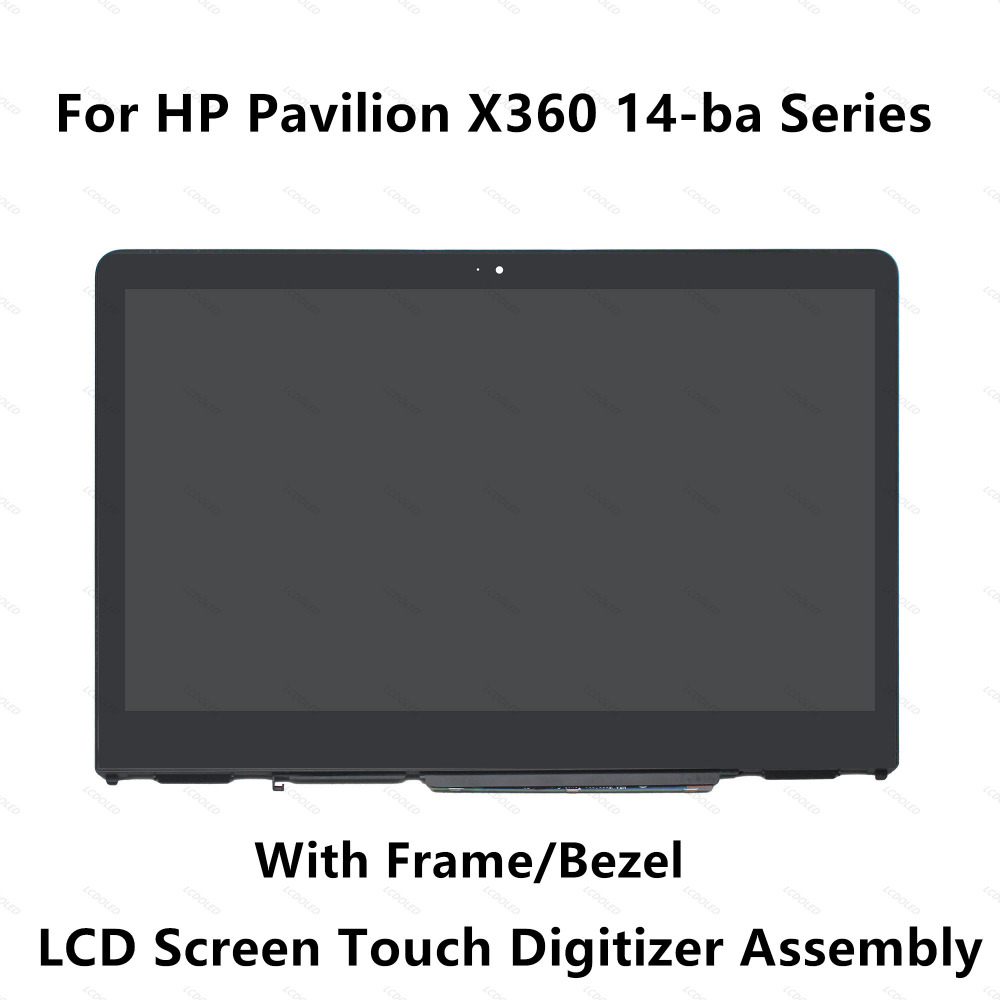 For HP Pavilion X360 14-ba103tu 14-ba047ur 14-ba026tx 14-ba027tx 14-ba018tu 14-ba005nx LCD Display Touch Screen Glass Assembly