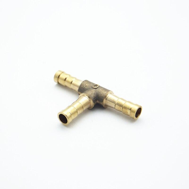 8mm Schlauch Barb Y Typ Messing Stacheldraht Rohr Montage Kupplung Stecker Adapter Für Kraftstoff Gas Wasser Rohrverbindungsstücke