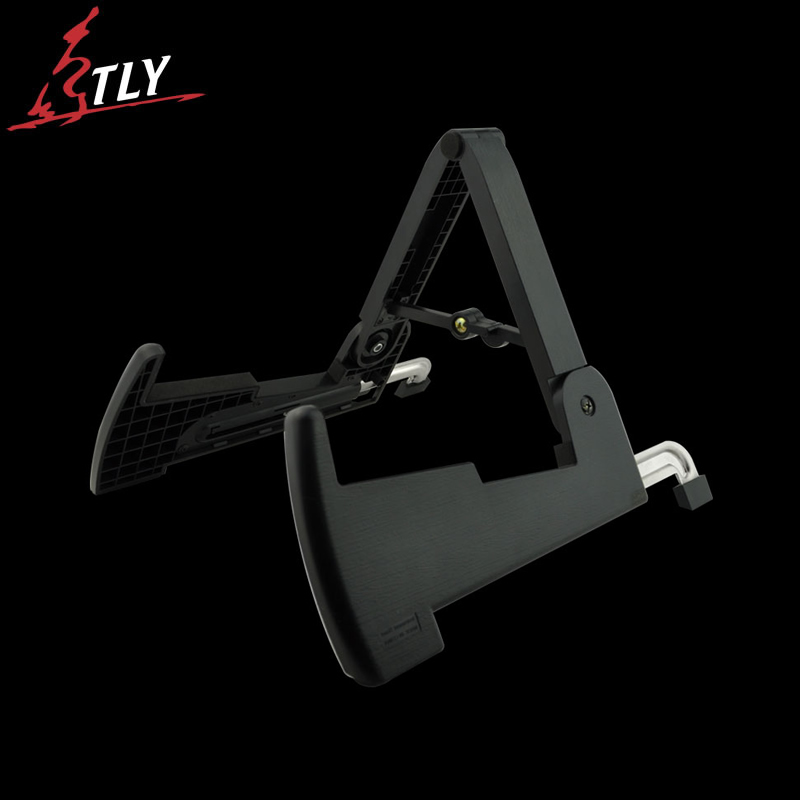 AROMA Foldable ABS Guitar Stand A-frame Holder Bracket Stand for All Sizes Acoustic Classic Electric Guitar Bass 5 Colors sews aroma ags 03 stand a frame holder bracket for all sizes of guitars basses stringed instrument universal