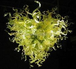 Hotelu dekoracyjne nowoczesny LED ręcznie dmuchane szkło artystyczne żyrandol