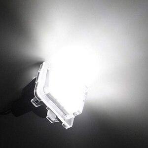 Image 3 - Für Benz GLK X204 GLK350 6000 K EIN Paar 24 Lizenz Platte Licht Geändert Mit Original Position LED Kennzeichen licht Montage