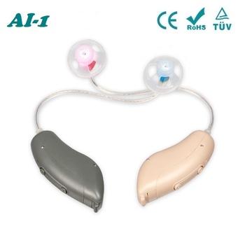 AI-1 Mini cyfrowe aparaty słuchowe pomoc regulowane wzmacniacze dźwięku małe aparaty słuchowe RIC BTE głuchy pomoce narzędzia do pielęgnacji uszu tanie i dobre opinie ACOSOUND Beige grey FDA ISO 13485 etc Medical resin For hearing loss person A 10