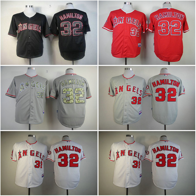info for 9bf58 dc0a8 Free Ship Los Angeles Angels shirt #32 Josh Hamilton red ...