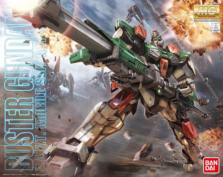 Bandai Gundam MG 1 100 GAT X103 Buster Gundam Mobile Suit Assemble Model Kits Action Figures