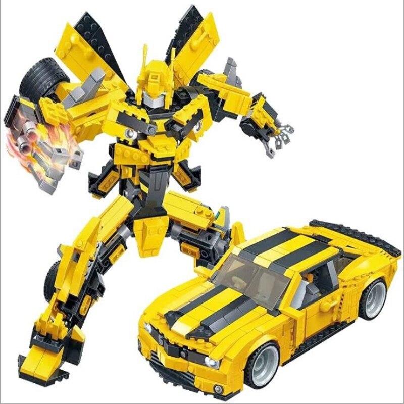 2 en 1 Transformation bricolage Legoings bloc de construction ensemble modèle Robot véhicule Sport voiture 3D modèle jouets enfants cadeaux d'anniversaire