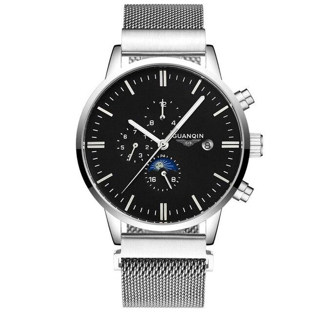 Uhr Luxus Marke 98guanqin Phase Mode Kalender 2017 Männer Gj16045 24 Woche Mechanische Berühmte Us129 In Mond Stunde Monat 7byYvIgf6